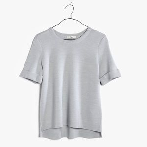 MADEWELL grey short-sleeved sweater shirt